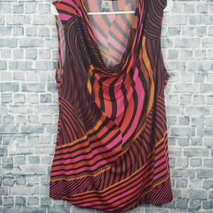♡6/$25♡ Worthington stretch blouse tank (786)
